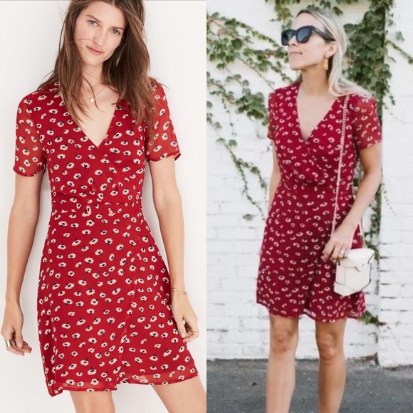 31f01c052b Madewell Dresses   Skirts - Madewell Wrap-Front Mini Dress